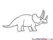 Triceratops free Colouring Page download