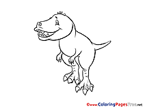 Tyrannosaurus download printable Coloring Pages