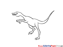 Velociraptor printable Coloring Sheets download