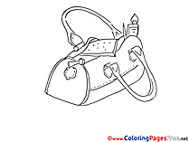 Bag for free Coloring Pages download