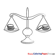 Balance free Colouring Page download