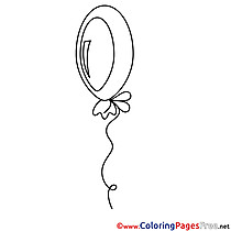 Ballon download printable Coloring Pages