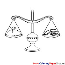 Bank Balance Children Coloring Pages free
