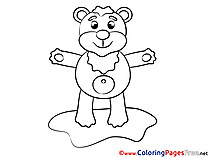 Bear Children Coloring Pages free