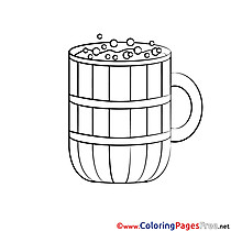 Beer Mug for free Coloring Pages download