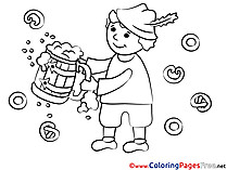 Beer Oktoberfest for Children free Coloring Pages