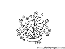 Bouquet of Flowers Coloring Pages for free