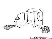 Box Flower Children Coloring Pages free