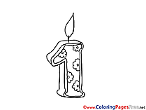 Candle download printable Coloring Pages