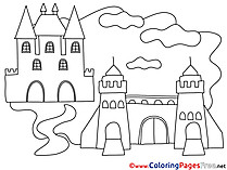 Castles free Colouring Page download