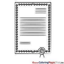 Certificate download Colouring Sheet free