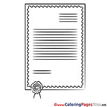 Certificate printable Coloring Pages for free