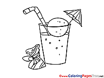 Cocktail free Colouring Page download