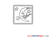 Crescent printable Coloring Pages for free