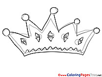 Crown Kids download Coloring Pages