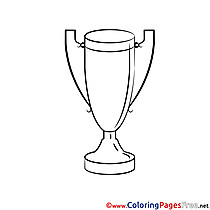 Cup for Kids printable Colouring Page
