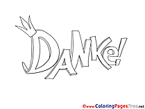 Danke Thank you free printable Coloring Sheets