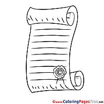 Diploma free printable Coloring Sheets