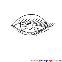 Eye Children Coloring Pages free