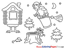 Fairy Tales free printable Coloring Sheets