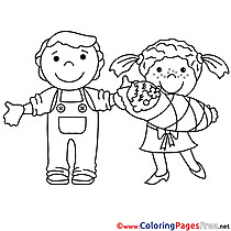 Family Coloring Pages for free