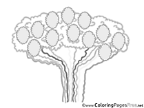 Family Tree Children download Colouring Page