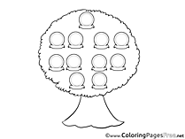 Family Tree free printable Coloring Sheets