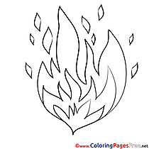 Fire Coloring Sheets download free