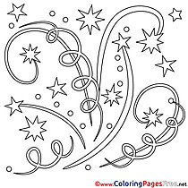 Fireworks Children Coloring Pages free