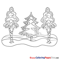 Forest Children download Colouring Page