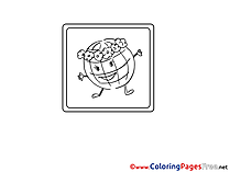 Globe Children download Colouring Page