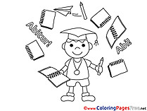 Graduate Boy printable Coloring Sheets download