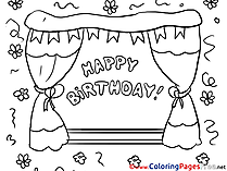 Happy Birthday Kids download Coloring Pages