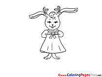 Hare Colouring Page printable free