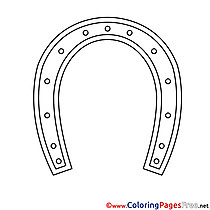 Horseshoe printable Coloring Pages for free
