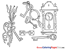 Keys for Children free Coloring Pages