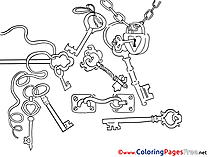 Keys printable Coloring Sheets download