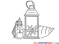 Lantern for free Coloring Pages download