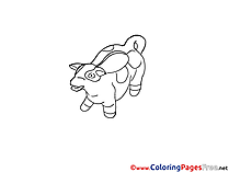 Money Box Cow free printable Coloring Sheets