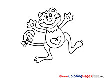 Monkey Coloring Sheets download free