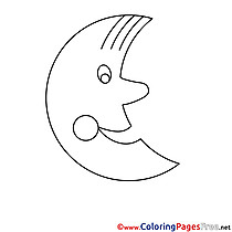 Moon Colouring Sheet download free