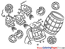 Oktoberfest Children download Colouring Page