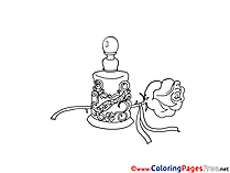 Perfume Rose Coloring Pages for free