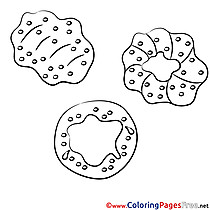 Pretzel Coloring Pages for free
