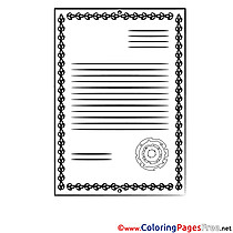 Printable Diploma Coloring Sheets download