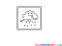 Rain Cloud Children Coloring Pages free
