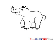 Rhino download printable Coloring Pages