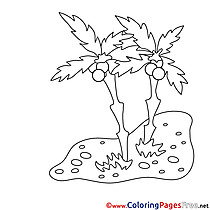 Sand Palms Coloring Sheets download free