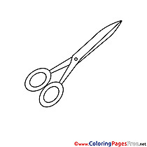 Scissors Kids download Coloring Pages