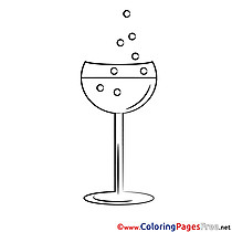 Shampagne Colouring Page printable free